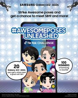 Ambassador SB19 with Samsung's #AwesomePosesUnleashed TikTok Challenge
