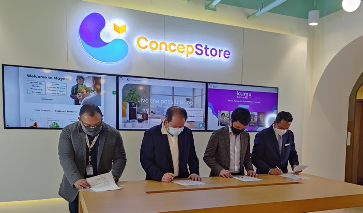 (L-R) Mike Dauden (Head of ConcepStore), Jojo Concepcion (Chairman & CEO, Concepcion Industrial Corporation, JT Solis (Co-Founder & CEO, Mayani), Atty. Ron Dime (Co-Founder & Chief Legal Counsel, Mayani)