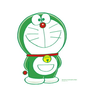 green doraemon