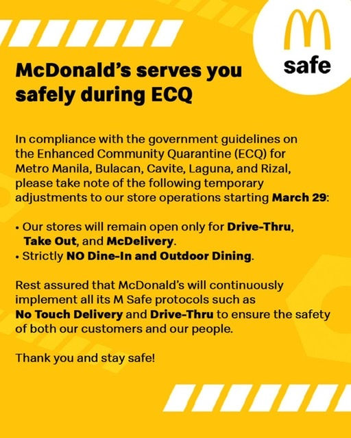 Safer eats at home with McDonald's in lockdown this Holy Week