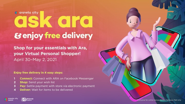 Araneta City offers more weekend shopping convenience with Ask Ara's FREE DELIVERY promo