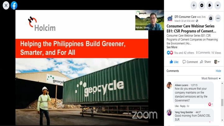 Holcim Philippines shares contributions to environment stewardship in govt, private sector talks