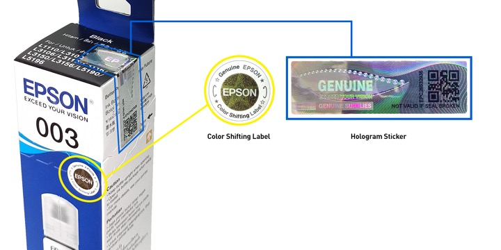 Buy Real, Buy Smart: Protect your warranty and your equipment by using Epson Genuine Inks for your Epson Printers