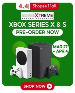 Pre-order Xbox Series X, Xbox Series S on Shopee 4.4 Sale