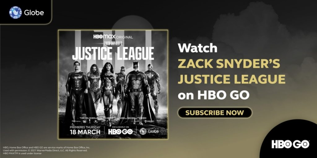 Catch Zack Snyder's Justice League and Other DCEU Films and Series on HBO GO with Globe