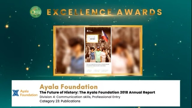 Ayala Foundation wins three Quill Awards