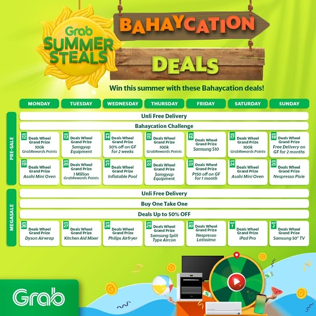 Grab is here to make your summer at home the most rewarding one yet with Summer Steals: Bahaycation!