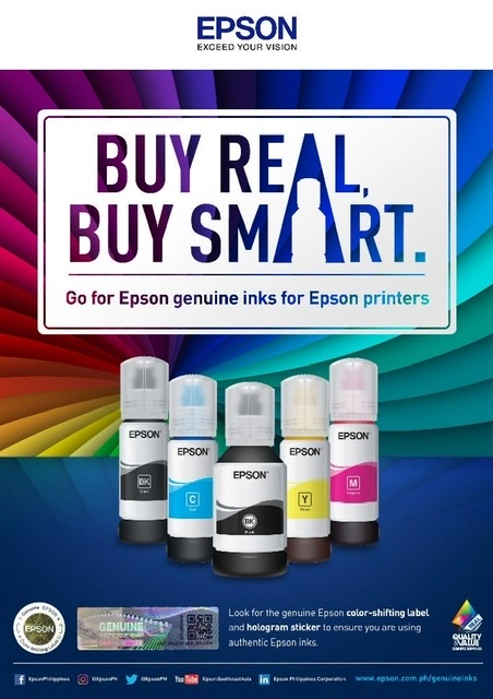 Protect your warranty and your equipment by using Epson Genuine Inks for your Epson Printers