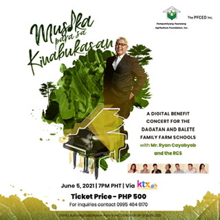 Maestro Ryan Cayabyab and the RCS to be featured in an e-benefit concert or the Family Farm Schools
