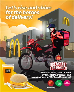 McDonald's gives thanks to those who deliver.