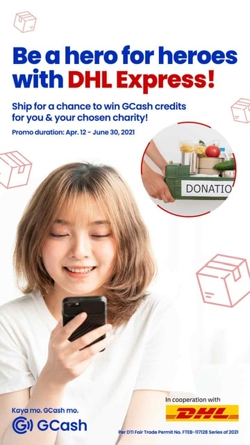 GCash and DHL Express tie-up allows customers to donate and win