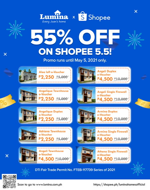 LUMINA HOMES BRINGS MIND-BLOWING DISCOUNT AT SHOPEE 5.5 BRANDS FESTIVAL
