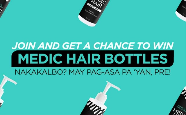FOR YOUR HAIR LOSS: HERE'S HOW TO WIN FREE MEDIC HAIR BOTTLES