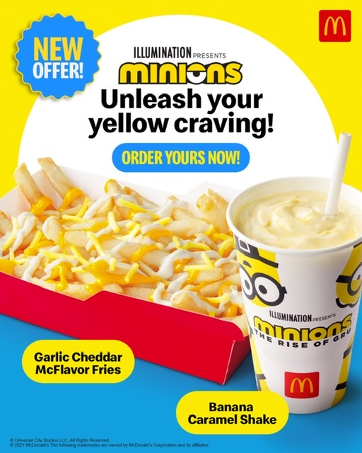 McDonald's Launches an Exciting Twist to its Iconic Fries and an All-New Minions-Approved Banana Caramel Shake!