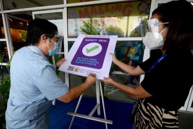 SM City Taytay granted Safety Seal