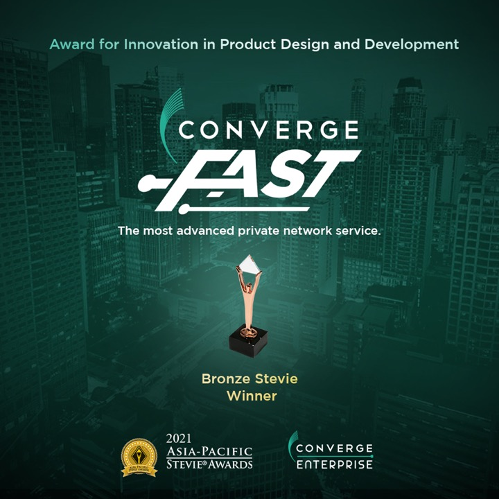 Converge ICT wins Bronze in the 2021 Asia-Pacific Stevie Awards