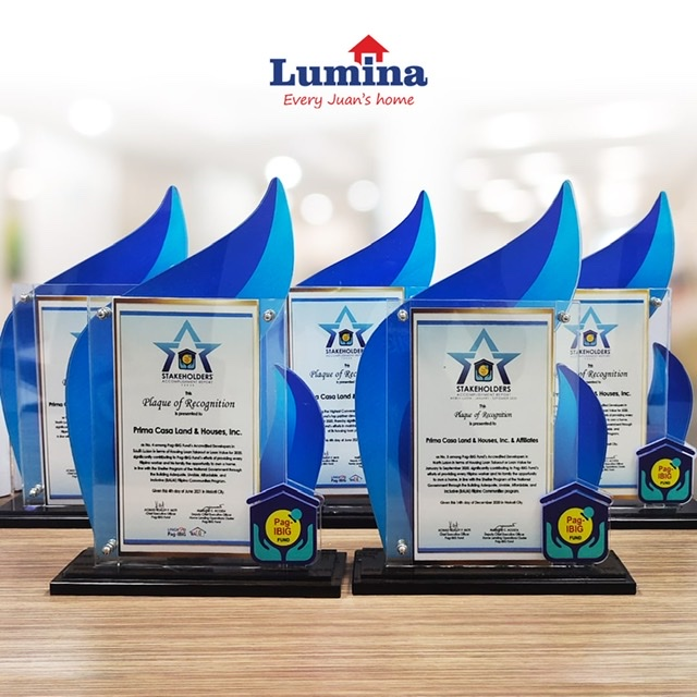 Lumina Homes consistent in providing affordable housing opportunities, gets recognition from Pag-IBIG