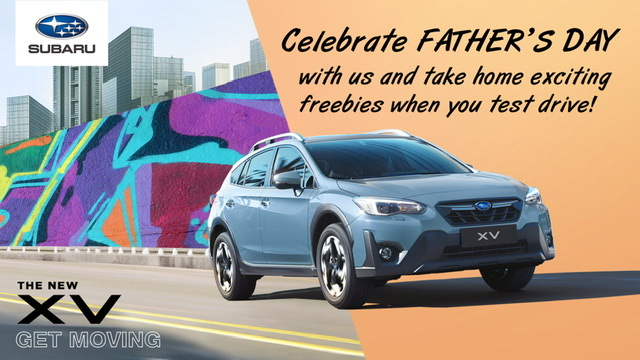 SUBARU MAKES FATHER'S DAY WEEKEND EXTRA SPECIAL