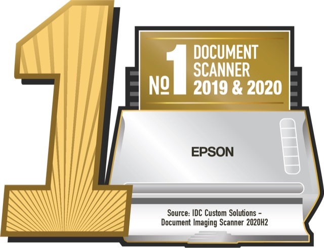 Epson is the No. 1* Document Scanner Company in the Philippines in 2019 and 202