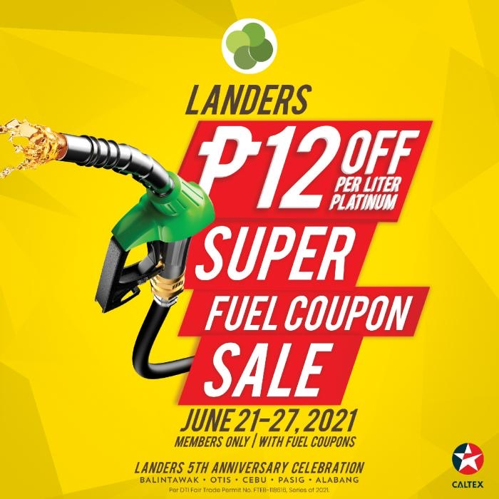 Gas up and get up to P12 discount with Landers Superstore's Super Fuel Sale