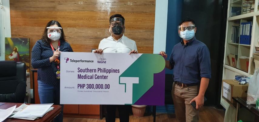 Teleperformance supports Davao frontliners with donation to the Southern Philippines Medical Center