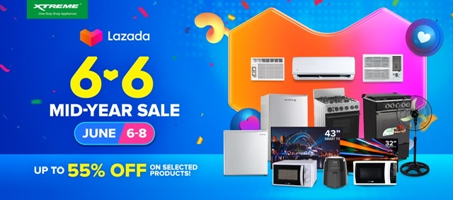 Big savings up to 56% on XTREME Appliances this Lazada & Shopee 6.6 Mid-Year Sale!