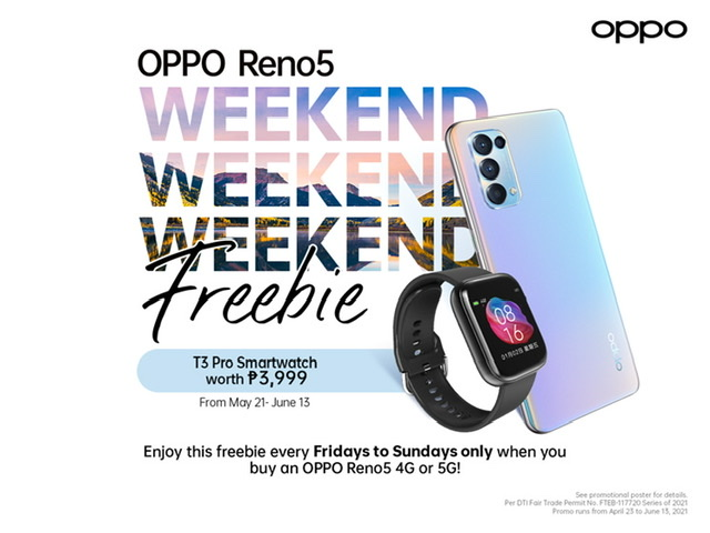 COOL WEEKEND FREEBIES UP FOR GRABS WITH THE NEW RENO5 SERIES