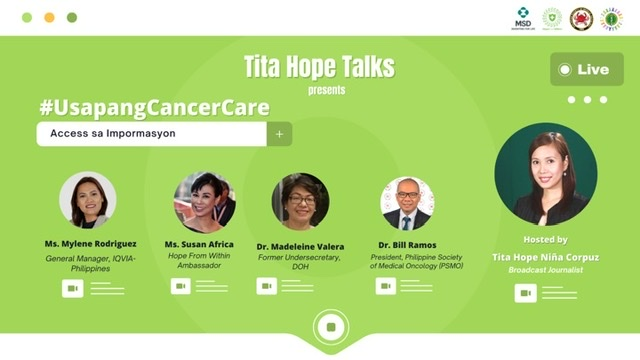 MSD's advocacy campaign Hope From Within spearheads cancer conversation series; calls for better access to cancer care