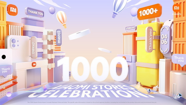 Xiaomi Celebrates 1000 Xiaomi Stores Event with Mi Fans Across the World The opening of the 1000th Xiaomi Store amid pressure