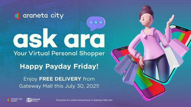Enjoy Araneta City's 7.30 Pay-Day Free Delivery Treat