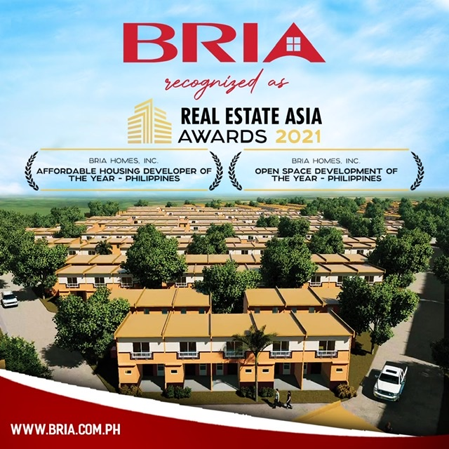 """Bria Homes wins two Real Estate Asia Awards for """"Affordable Housing Developer and Open Space Development of the Year"""""""