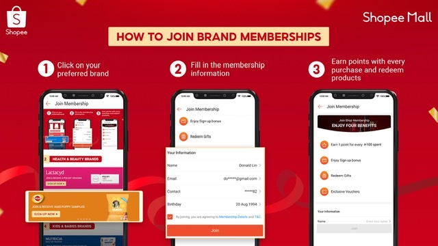 Shopee Mall Launches Brand Memberships Program