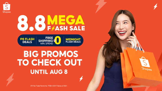 Big Promos to Check Out at the Shopee 8.8 Mega Flash Deals Sale