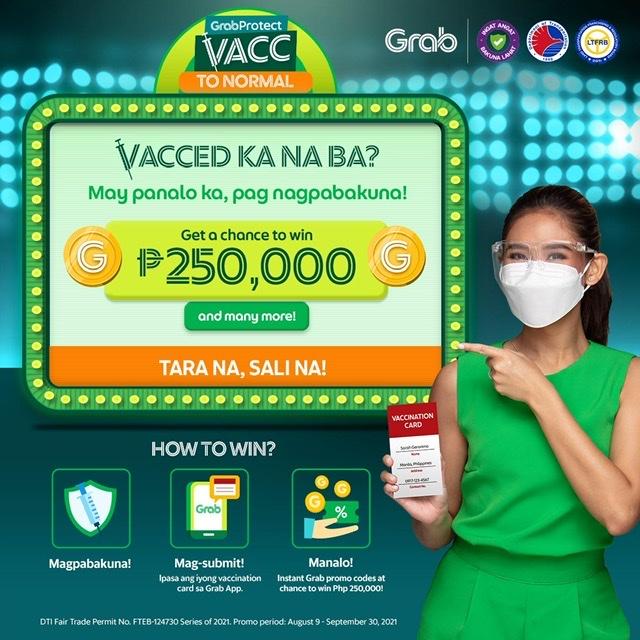 VACC-ed KNB? Magpabakuna na para sa exciting prizes mula sa Grab!